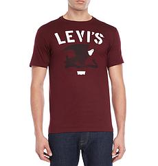 Мужская футболка Levis®  Classic Graphic Tee - Burgundy
