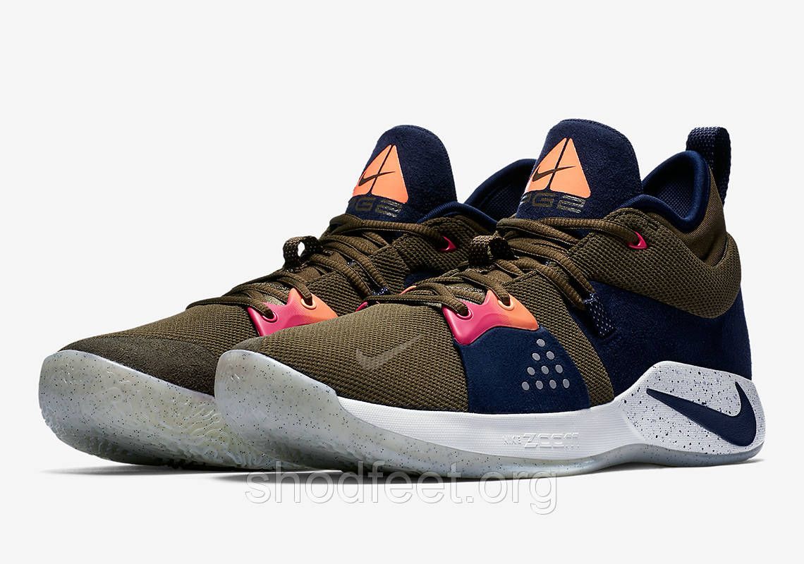 Кроссовки Nike Zoom PG 2 Playstation ACG Navy Green