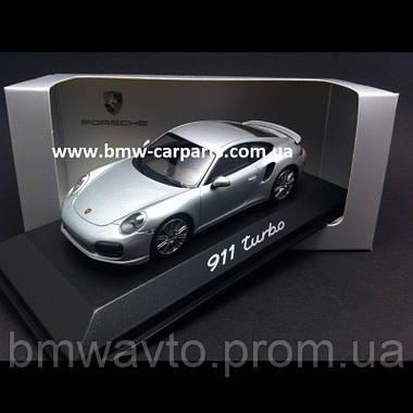 Модель автомобиля Porsche 911 Turbo Grey, фото 3