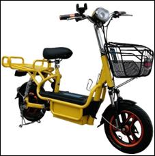 Электрический скутер электровелосипед LARGO свинцово-гелиевый 450 Вт желтый синий