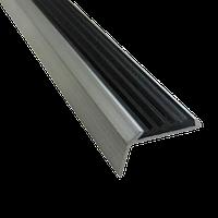 Противоскользящий угловой алюминиевый профиль, 48 мм, Накладка на ступени, длина 1,0 м