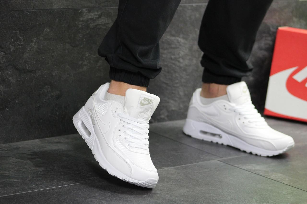 7ba6140d Кроссовки найк аир макс 90 мужские белые демисезонные (реплика) Nike Air  Max 90 White