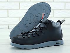 Ботинки зимние Native Fitzsimmons Black/Gray. ТОП Реплика ААА класса.