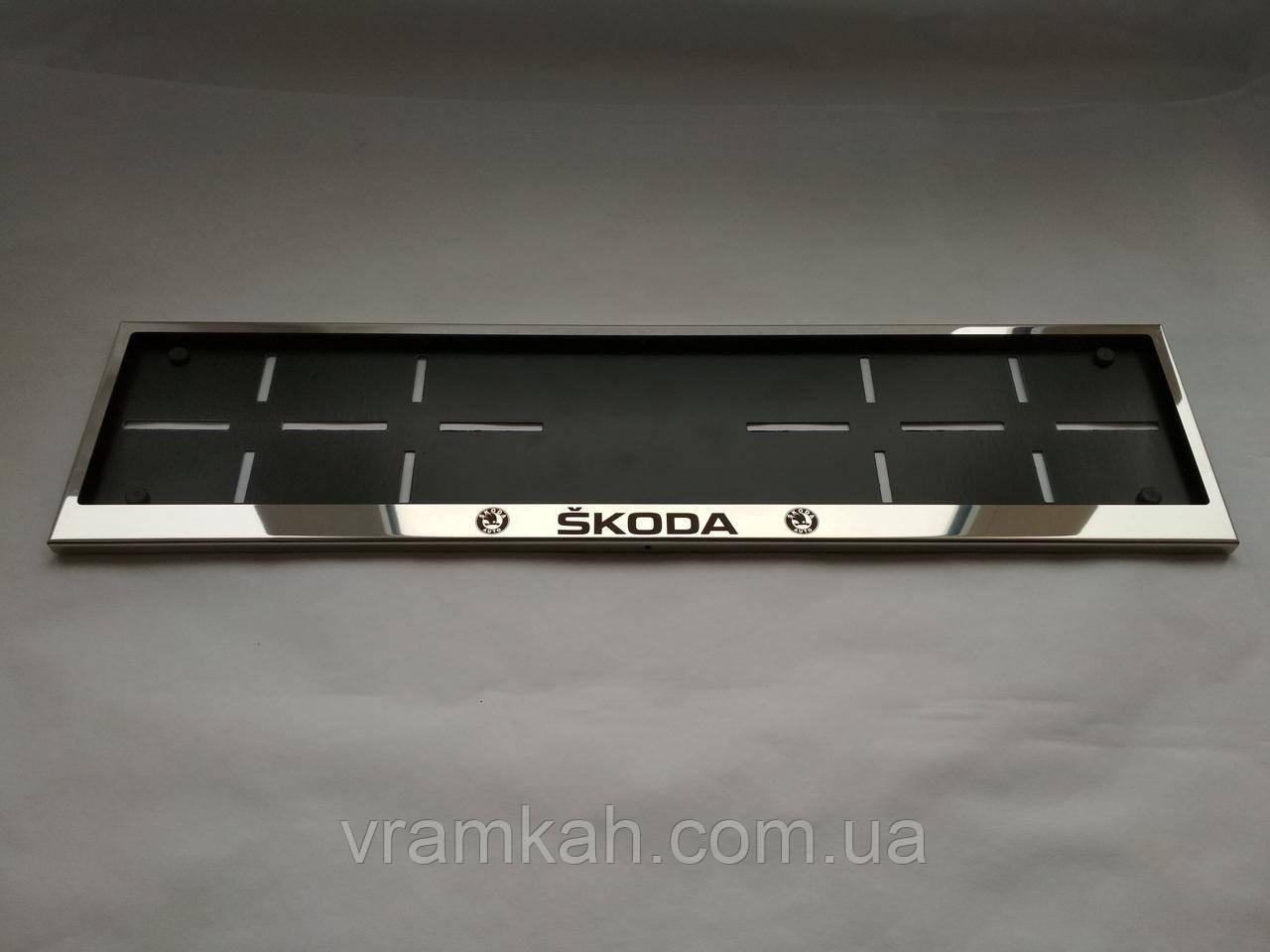 Номерная рамка для авто Skoda
