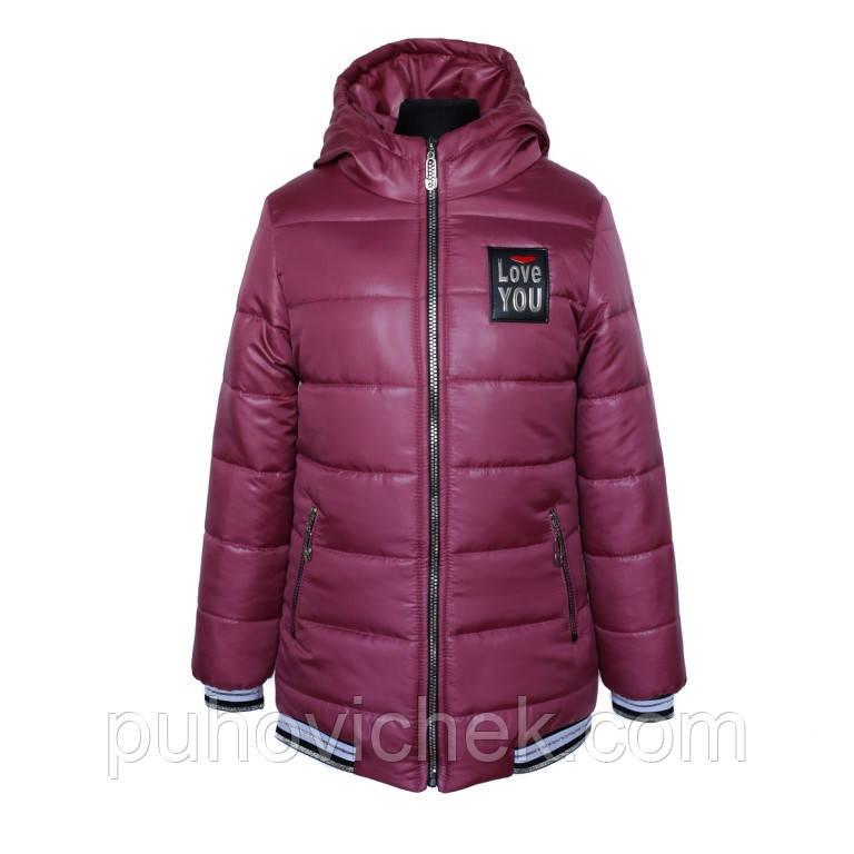 Дитяча демісезонна куртка для дівчаток розміри 134-152
