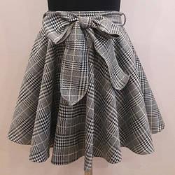 Модная юбочка в клетку для девочки 122-140