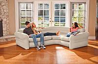 Надувной диван Intex 68575, 257 х 203 х 76 см. Угловой диван