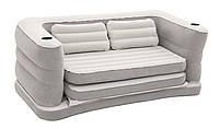 Надувной диван Bestway 75063, 160 х 201 х 64 см. Флокированный диван трансформер 2 в 1 , фото 1