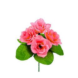 """Бордюрный букет искуссвенный """"Роза"""" на 5 голов высота 200мм диаметр цветка 120мм"""