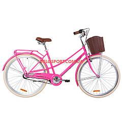 Городской велосипед Dorozhnik Comfort Female PH 28 дюймов персиковый