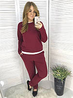 Женский модный костюм с имитацией  ФЕ7007 (бат), фото 1