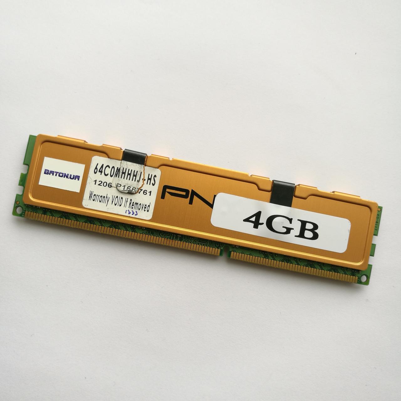 Игровая оперативная память PNY DDR3 4Gb 1333MHz PC3 10666U CL9 (64C0MHHHJ-HS) Б/У