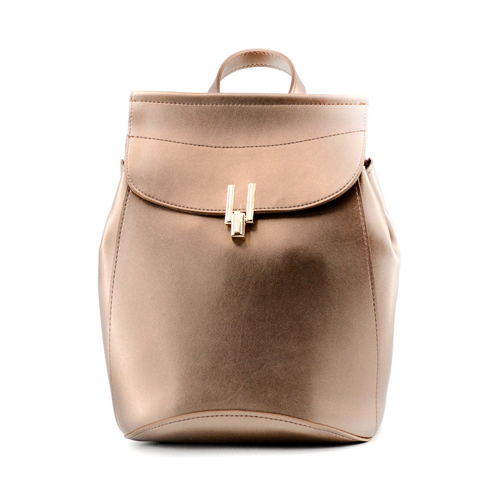 eae0499e4364 Сумка-рюкзак жіноча золотиста з екошкіри / Сумка-рюкзак женская золотистая  из экокожи