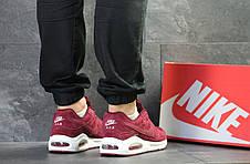 Кроссовки мужские Nike air max,замшевые,бордовые 43(уценка), фото 2