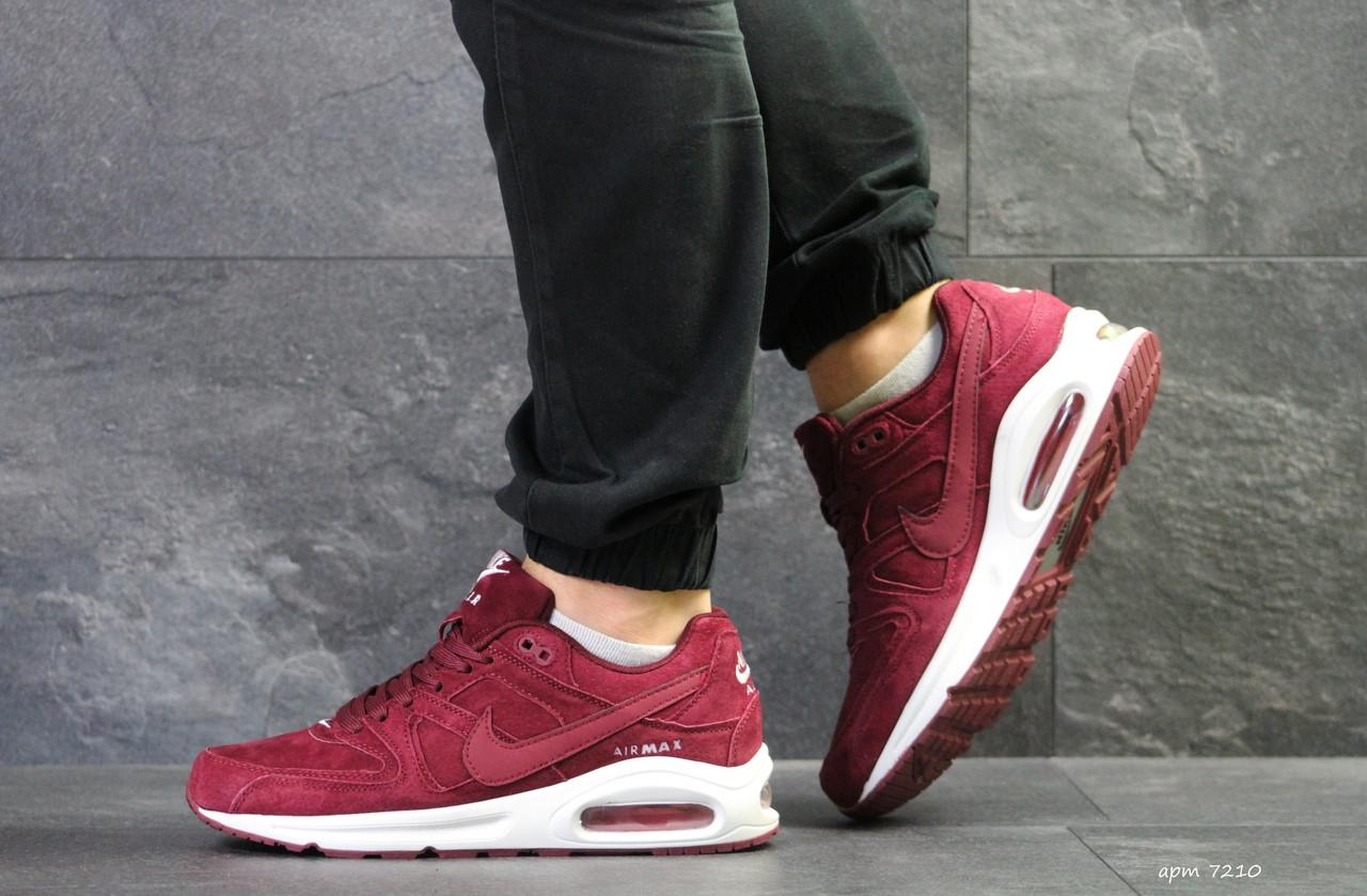 Кроссовки мужские Nike air max,замшевые,бордовые 43(уценка)