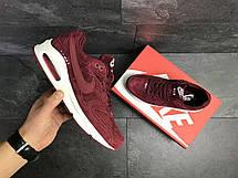 Кроссовки мужские Nike air max,замшевые,бордовые 43(уценка), фото 3