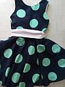Летнее платье для девочки в горох Размер 134, фото 3