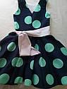 Летнее платье для девочки в горох Размер 134, фото 4