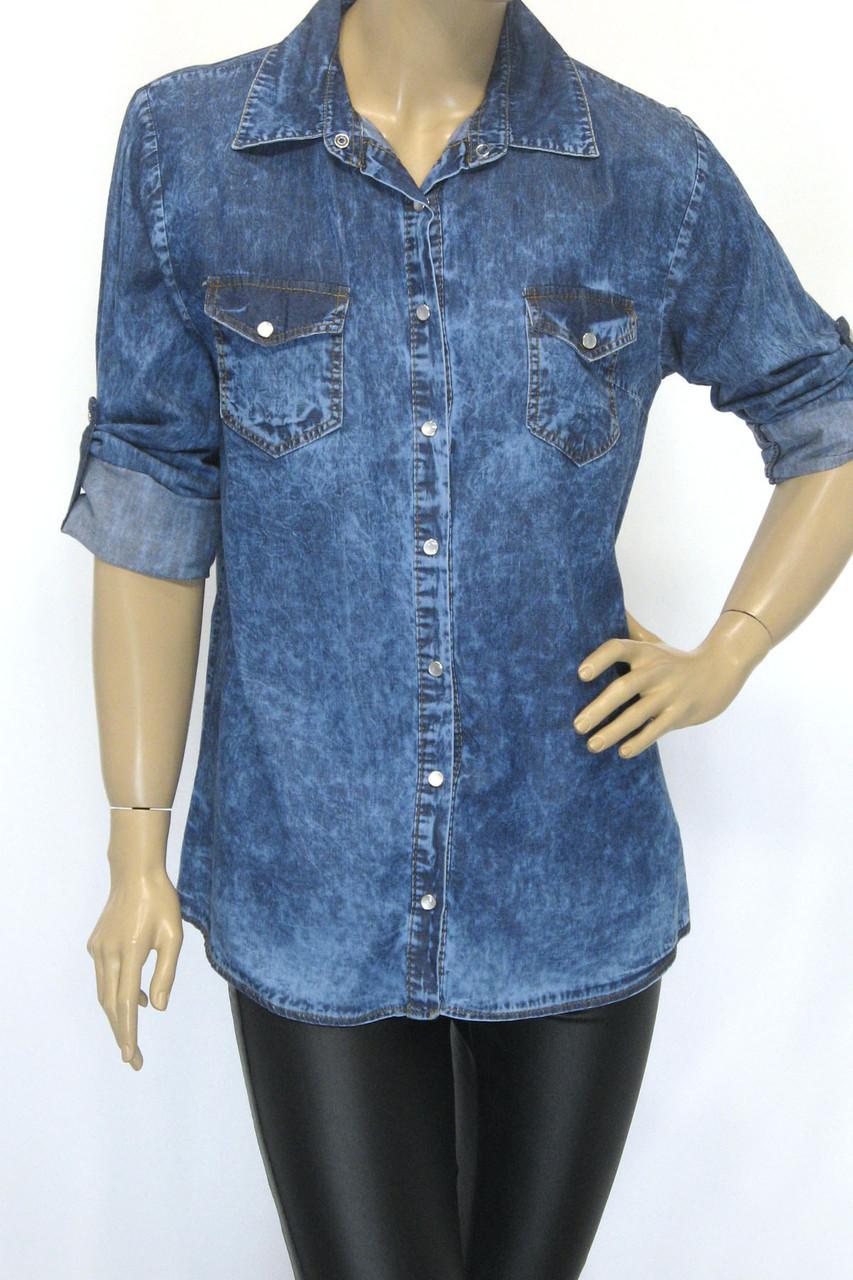 Жіноча джинсова сорочка Keyan