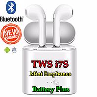 Беспроводные Bluetooth наушники TWS i7S Mini Earphones. AirPods с кейсом для зарядки i7S TWS