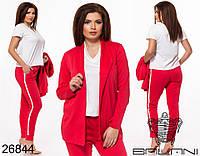 Женский стильный костюм - тройка  БВ1229 (бат), фото 1