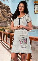 Женская ночная рубашка с принтом, фото 1