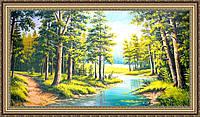 Картина в багетной раме Лес 1000х500 мм №348