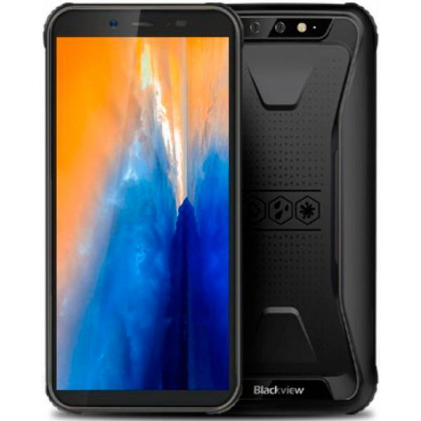 Смартфон защищенный с большим дисплеем и мощной батареей на 2 сим карты Blackview BV5500 black 2/16ГБ