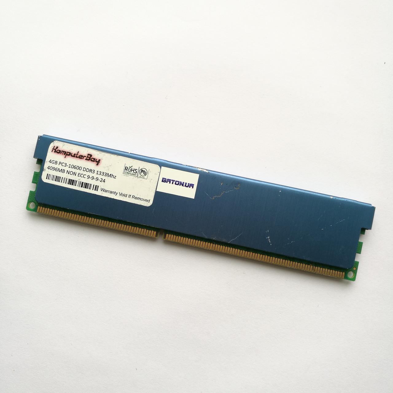 Игровая оперативная память Samsung DDR3 4Gb 1333MHz PC3 10600U CL9 (M378B5273BH1-CH9) Б/У