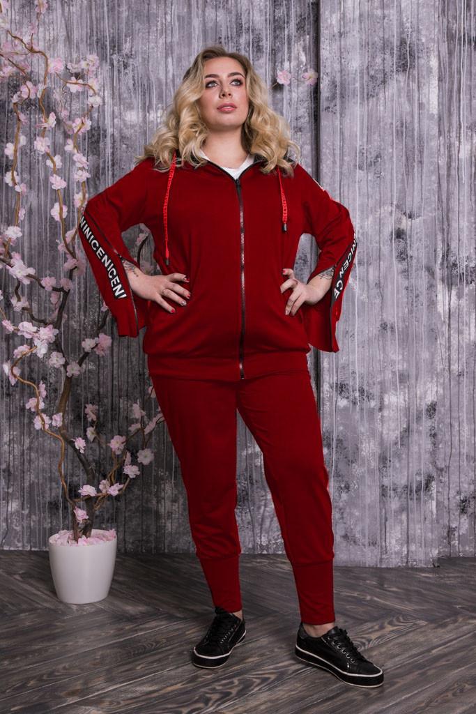 8c699de369354 Модный спортивный костюм больших размеров Оникс бордо - V Mode, прямой  поставщик женской одежды в