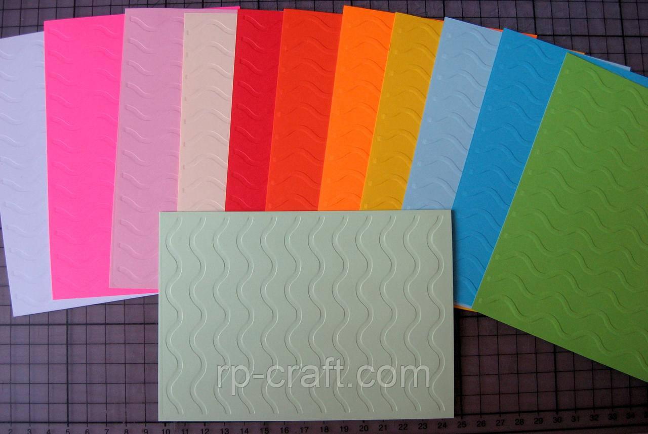 Тиснение на картоне, бумаге. Волна, 106х150 мм