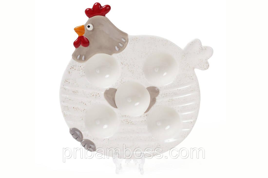 Подставка для 5-ти яиц керамическая Курочка, 21 см.