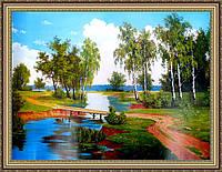 Картина в багетной раме Летний пейзаж 400х600 мм №377