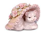 """Музыкальная статуэтка """"Кошка в шляпе"""" (461-140)"""