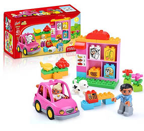 Конструктор Gorock 1040 Мой первый магазин (аналог Lego Duplo 10546)