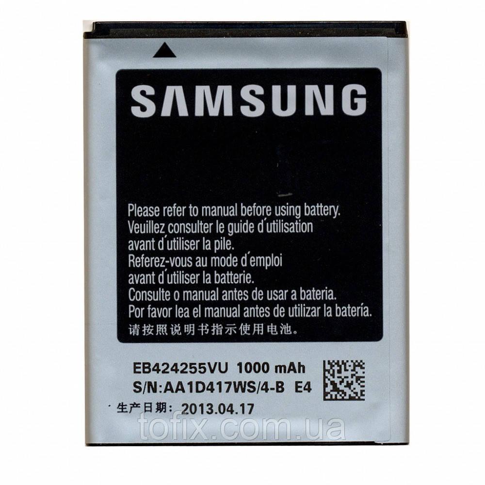 Батарея (акб, аккумулятор) EB424255VU для телефонов Samsung S5222 Star 3 Duos, 1000 mAh, оригинал