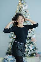 Детские шорты на девочку, р. 140-164, черный, фото 1
