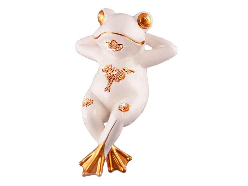 Статуэтка Лягушка на отдыхе 30 см фарфор 98-1220
