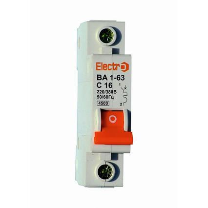 Автоматический выключатель 1 полюсный 2 Ампера ВА1-63 4,5kA