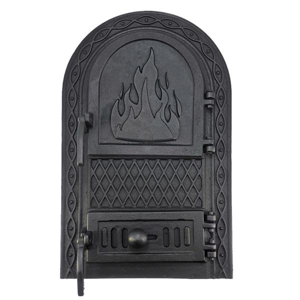 Чугунная дверца для печи, грубы 102902, печная дверка