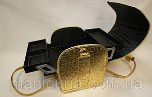 Кейс для мастера, чемодан, золотой лак.