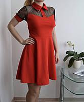 Платье с воротником женское Италия