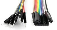 Провода Dupont, кабель Дюпон для Arduino, макетных плат и монтажа. длинна 20 см. 10 шт. папа-мама
