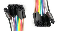 Провода Dupont, кабель Дюпон для Arduino, макетных плат и монтажа. длинна 20 см. 10 шт. мама-мама