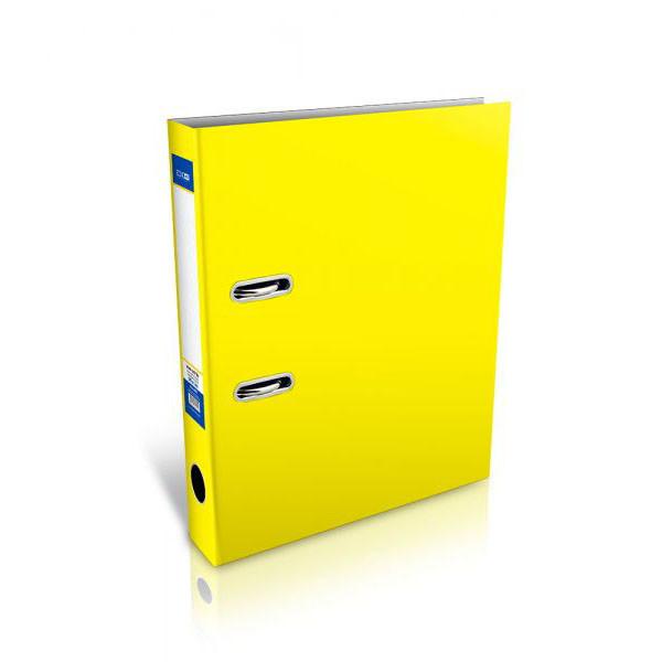 Папка регистратор А4 Economix, 70 мм, желтая