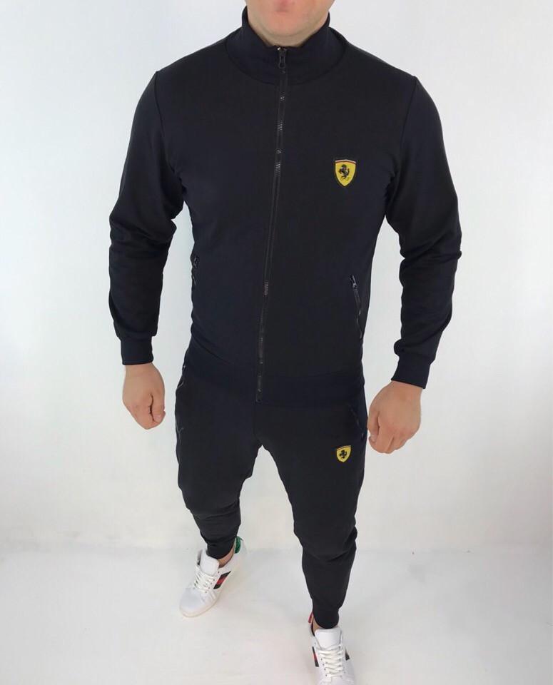 "Мужской спортивный костюм ""Ferrari"" на молнии"