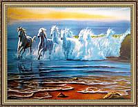 Картина в багетной раме Волна лошади 400х600 мм №502