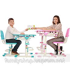 Растущая парта + стульчик для школьника Fundesk Lavoro Blue , фото 2