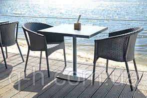 Кресло neapol плетеное из искусственного ротанга 68x47x79 см, фото 3