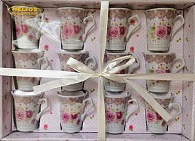 "Набор чайный Helios ""Розы"" 12 чашек 170 мл 3476"